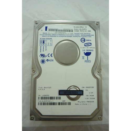 DISCO DURO IDE/ATA MAXTOR 200GB 6L200P0 TESTADO/FORMATEADO